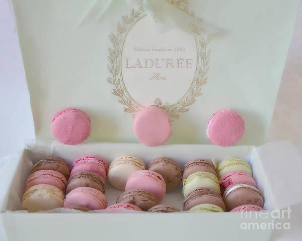 Wall Art - Photograph - Paris Laduree Pastel Macarons - Paris Laduree Box - Paris Dreamy Pink Macarons - Laduree Macarons by Kathy Fornal