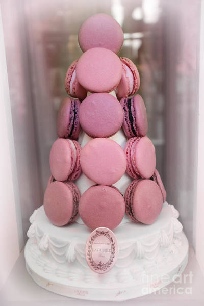 Wall Art - Photograph - Paris Laduree Pink Macarons - Paris Pink Laduree Window Display - Paris Pink Macarons Window Display by Kathy Fornal
