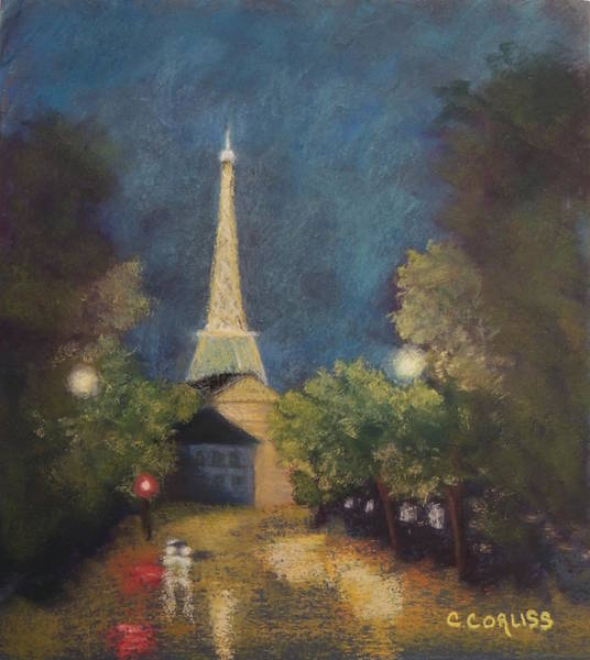 Pastel - Paris Lights by Carol Corliss