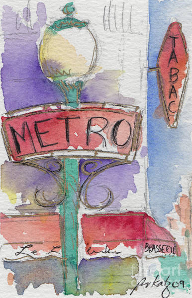 Painting - Paris Metro by Pat Katz