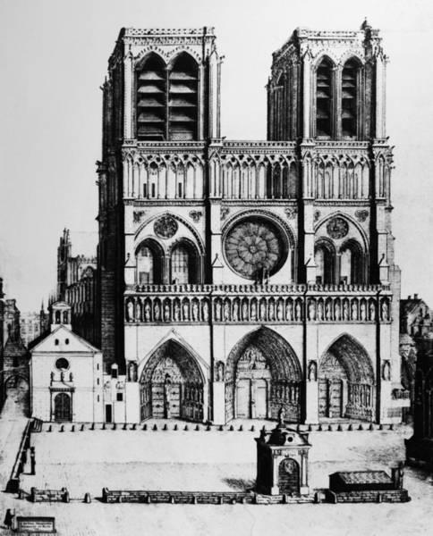 Notre Dame Drawing - Paris Notre Dame, 1699 by Granger