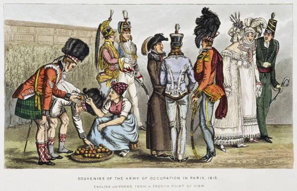 Political Cartoon Painting - Paris Occupation, 1815 by Granger