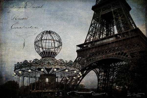Paris One More Ride Art Print