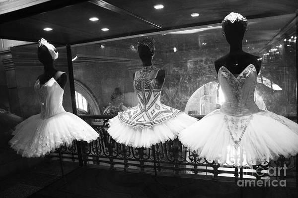 Dress Shop Photograph - Paris Opera Garnier Ballerina Costume Tutu - Paris Black And White Ballerina Photography by Kathy Fornal