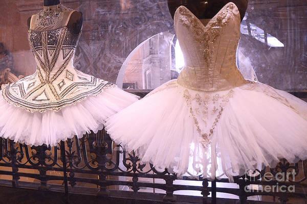 Dress Shop Photograph - Paris Opera Garnier Ballerina Dresses - Paris Ballet Opera Tutu Costumes - Paris Opera Des Garnier  by Kathy Fornal