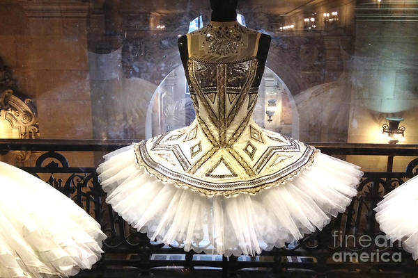 Dress Shop Photograph - Paris Opera House Ballerina Costume Tutu - Paris Opera Des Garnier Ballerina Tutu Dresses by Kathy Fornal
