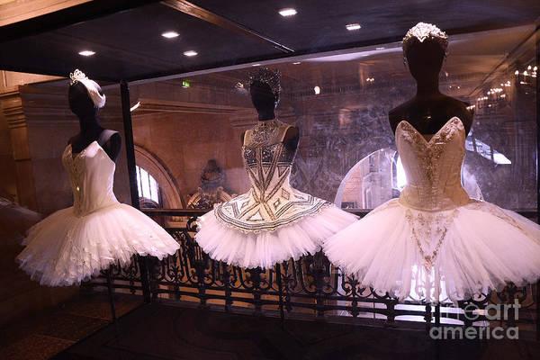 Dress Shop Photograph - Paris Opera House Ballerina Costumes - Paris Opera Garnier Ballet Art - Ballerina Fashion Tutu Art by Kathy Fornal