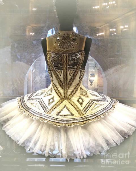 Dress Shop Photograph - Paris Opera House Ballerina Tutu Costume - Opera Des Garnier Ballerina Costume by Kathy Fornal