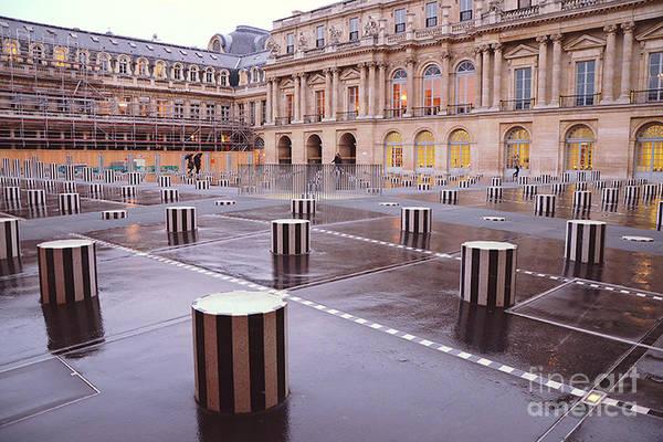 Palais Photograph - Paris Palais Royal Palace Architecture - Paris Palais Royal Courtyard Columns by Kathy Fornal