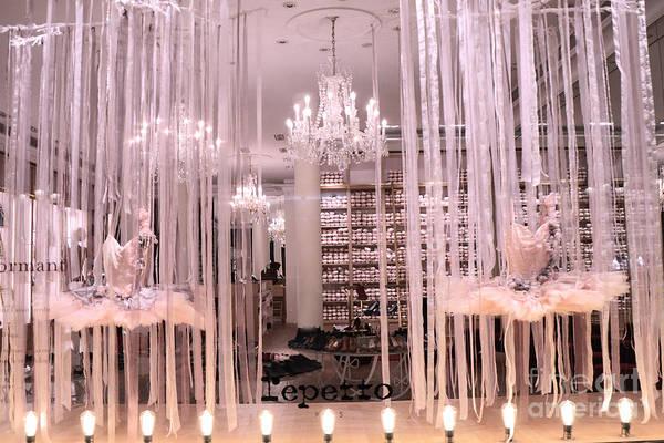 Dress Shop Photograph - Paris Repetto Ballerina Tutu Shop - Paris Ballerina Dresses Window Display  by Kathy Fornal