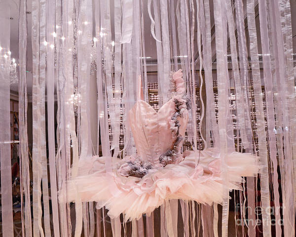 Dress Shop Photograph - Paris Repetto Pink Ballerina Tutu Dress Shop Window Display - Repetto Ballerina Pink Ballet Tutu by Kathy Fornal