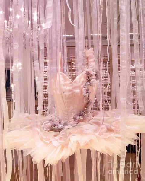 Dress Shop Photograph - Paris Repetto Pink Ballerina Tutu Window Display - Parisian Fashion Ballerina Dress by Kathy Fornal