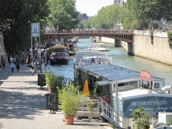 Paris - Seine Scene Art Print