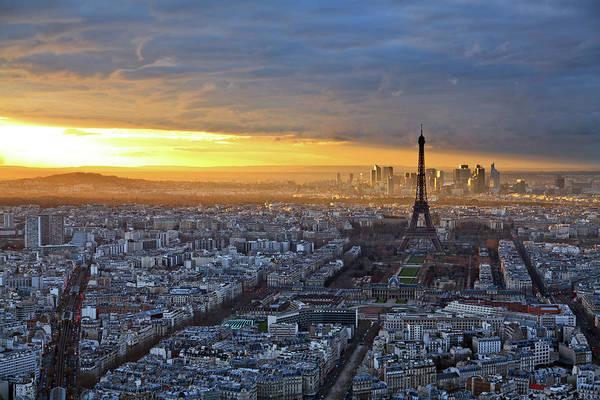 Collin Photograph - Paris Skyline With A Dramatic Sunset by © Frédéric Collin