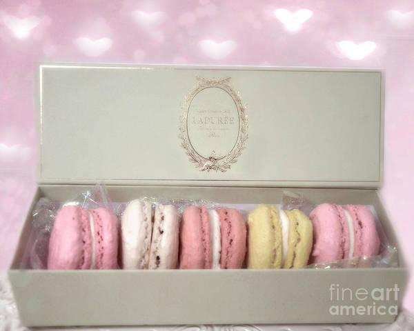 Wall Art - Photograph - Paris Macarons Laduree Tea Shop Patisserie - Dreamy Laduree Box Of French Macarons - Paris Macarons by Kathy Fornal