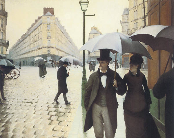 Walking In The Rain Wall Art - Painting - Paris The Place De L'europe On A Rainy Day by Gustave Caillebotte