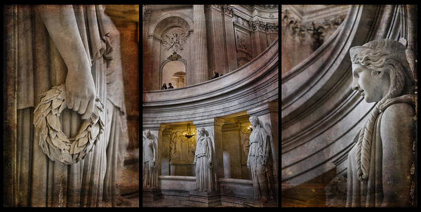 Photograph - Paris Triptych At Napoleons Tomb by Evie Carrier