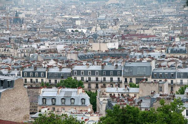Paris Rooftop Photograph - Paris View From Montmarte by Mitch Diamond