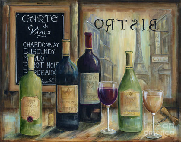 Bistros Painting - Paris Wine Tasting by Marilyn Dunlap