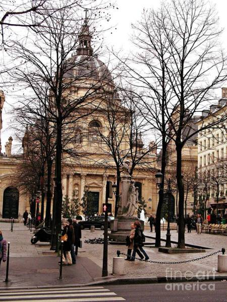 Street Scenes Photograph - Paris Winter City Streets Architecture Buildings People Winter Street Scene Photos by Kathy Fornal