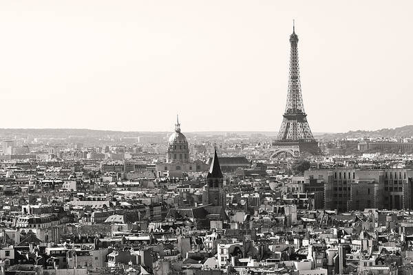 Photograph - Paris With Eiffel Tower In Black And White  by Pierre Leclerc Photography