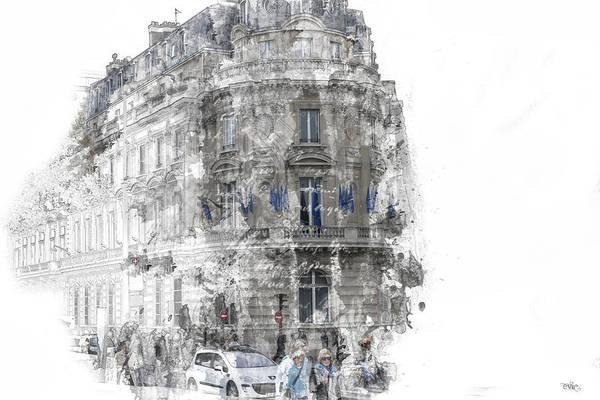 Paris With Flags Art Print