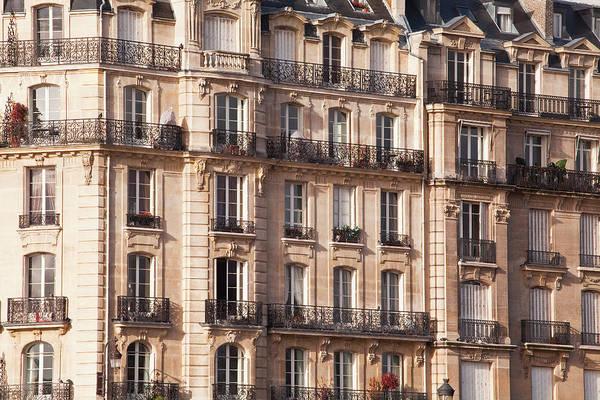 Photograph - Parisian Apartment Building On The Ile by Julian Elliott Photography