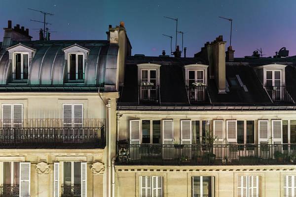Paris Rooftop Photograph - Parisian Rooftops At Night by James Farley