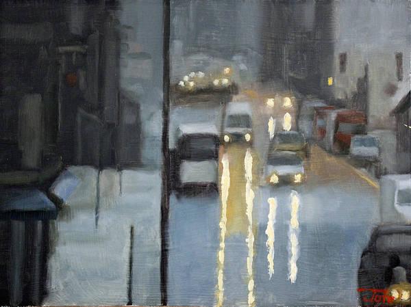 Wall Art - Painting - Parisian Storm by Tate Hamilton