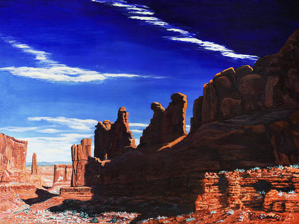 Wall Art - Painting - Park Avenue At Arches by Timithy L Gordon