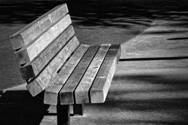 Photograph - Park Bench by Ludwig Keck