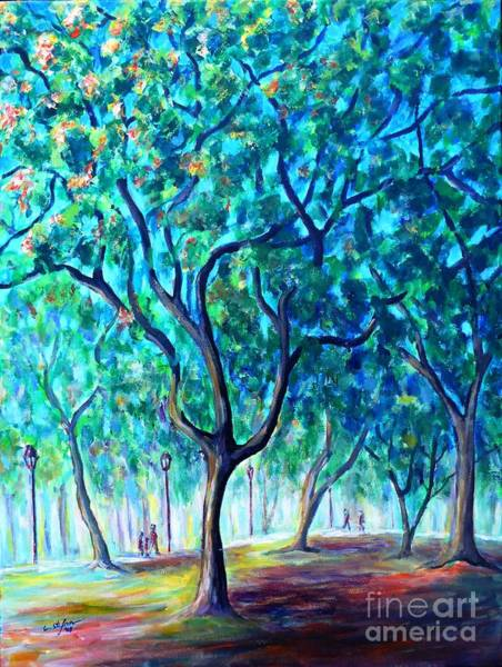 Painting - Park In Buenos Aires by Cristina Stefan
