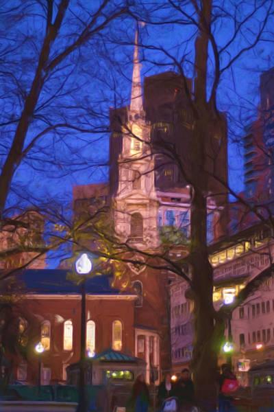 Photograph - Park St. Church by Joann Vitali