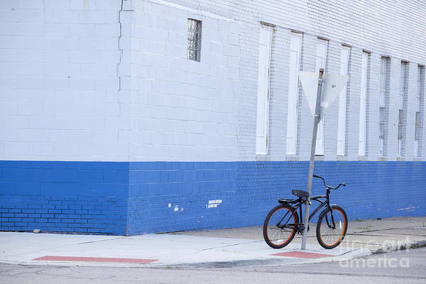 Photograph - Parked Bicycle by Jim West