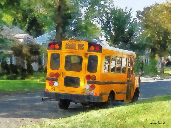 Photograph - Parked School Bus by Susan Savad