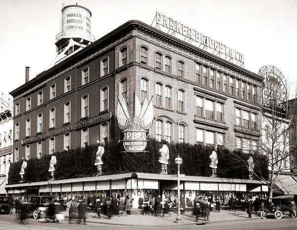 1921 Photograph - Parker Bridget And Company Department Store - Washington Dc 1921 by Mountain Dreams