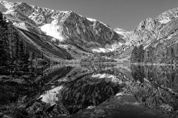 Parker Lake Black And White Art Print