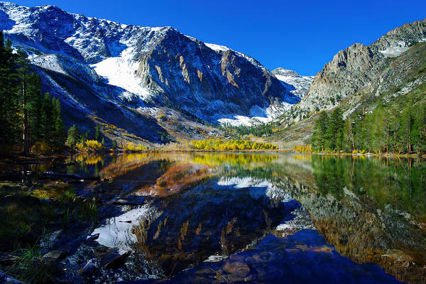 June Lake Photograph - Parker Lake California In Fall by Scott McGuire