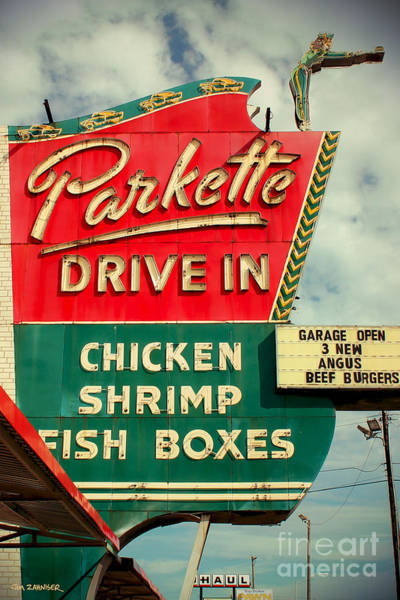 50s Wall Art - Digital Art - Parkette Drive-in by Jim Zahniser