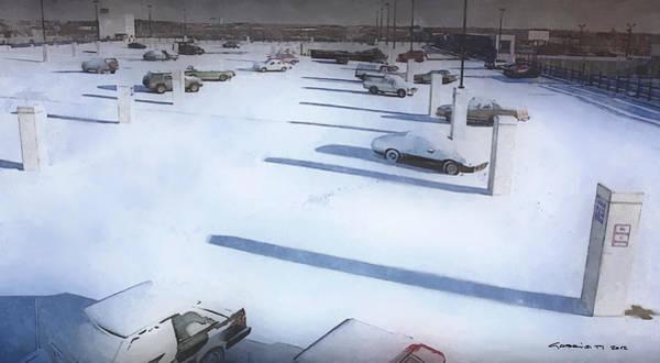 Digital Art - Parking  @ Fargo By Joel And Ethan Coen by Gabriel T Toro