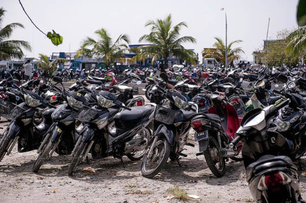 Parking Photograph - Parking For Motorbikes, Male, Maldives by Paul Todd