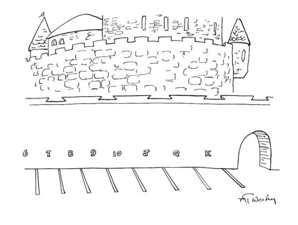 November 30th Drawing - Parking Lot Outside Of A Castle. The Parking by Mike Twohy