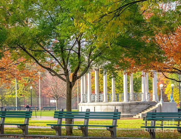 Photograph - Parkman Bandstand Color by Susan Cole Kelly