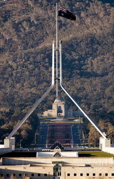Parliament And War Memorial Australia Art Print
