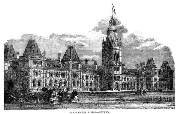 Parliament Building - Ottawa - 1878 Art Print