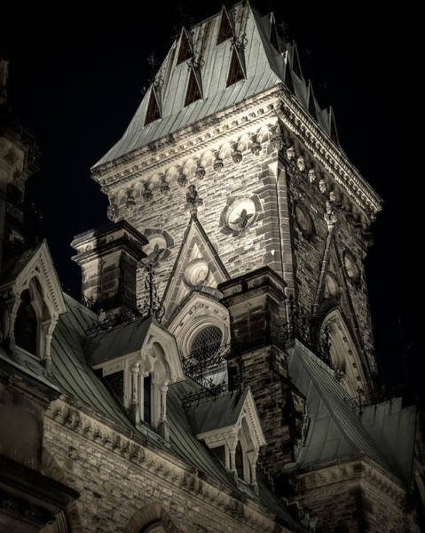 Wall Art - Photograph - Parliament Hill East Wing Detail At Night by Levin Rodriguez