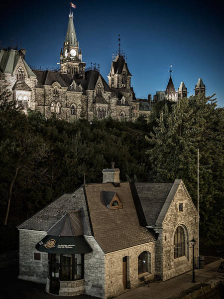 Wall Art - Photograph - Parliament Hill View From The Rideau Locks by Levin Rodriguez