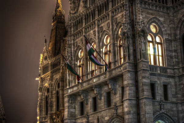 Eastern Europe Digital Art - Parliament Nights by Nathan Wright