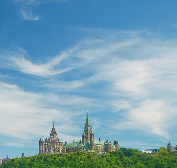 Ottawa Photograph - Parliament On The Hill, Ottawa by Dennis Mccoleman