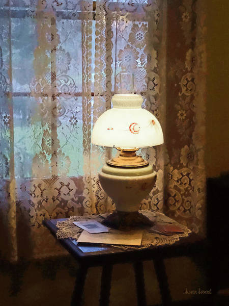 Photograph - Parlor With Hurricane Lamp by Susan Savad